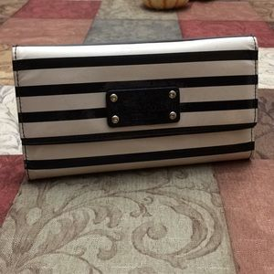 Kate spade patent striped wallet